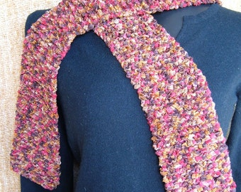 SUPER SALE - Granite Luster - 62 1\/2 inch Long Knitted Scarf - FREE SHIPPING