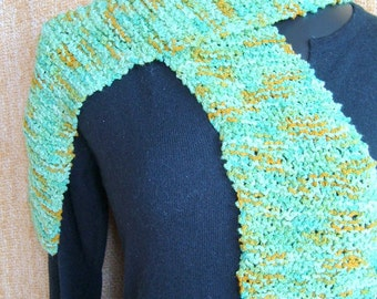 SUPER SALE - Mossy Path - 54 inch Long Knitted Scarf - FREE SHIPPING
