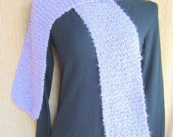 SUPER SALE - Lavender Sachet - 72 inch Long Knitted Scarf - FREE SHIPPING