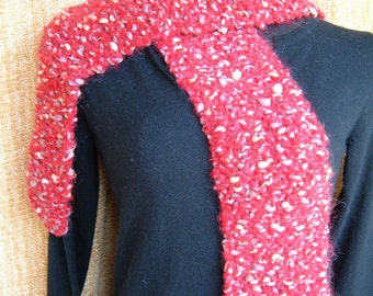 SUPER SALE - Gemstone - 57 inch Long Knitted Scarf - FREE SHIPPING