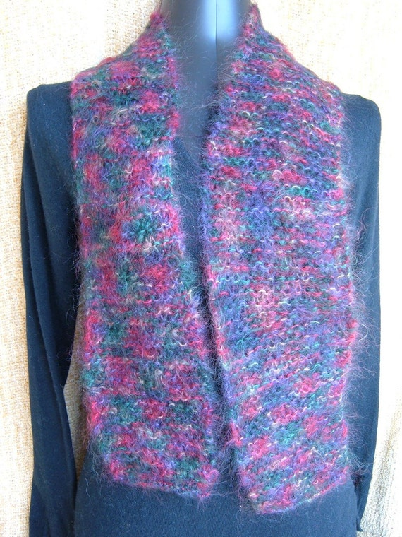 SUPER SALE - Oxford Plaid - 66 inch Long Knitted Scarf - FREE SHIPPING