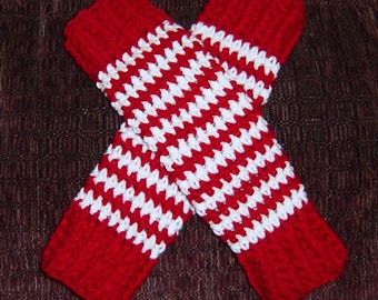 Christmas Kids Crochet Leg Warmers