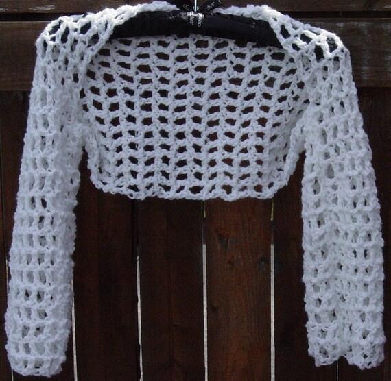 Women's Crochet Bolero Shrug