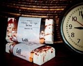 Almond Soap, Creamy Soap, Handmade Soap, Vanilla, Amaretto, Shea Butter Soap, Exfoliating Soap, Birthday Gift, Mens Gift