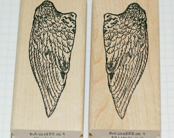 Angel Wings wood mounted rubber stamps