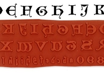 Gothic Alphabet Unmounted Rubber Stamps