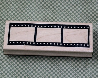 Film Strip Wood Mounted Rubber Stamp