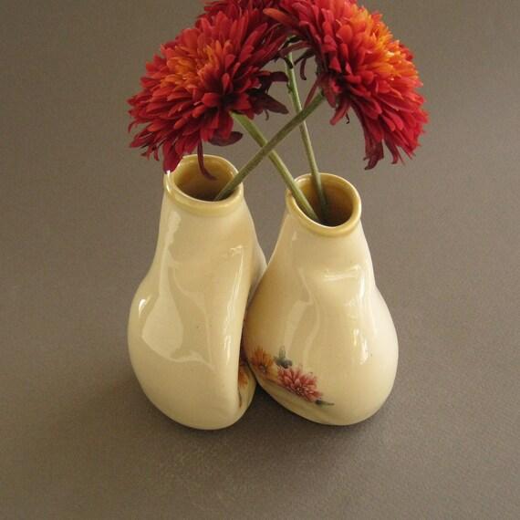 Adorable Chrysanthemum Vase Set, Unique wedding, engagement or anniversary gift