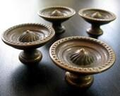 4 Vintage Knobs - Drawer Pulls - originally from a mid-century Mengel cabinet