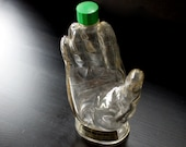 Vintage Glass Hand by Mennen - Limited Edition Skin Bracer After Shave Bottle