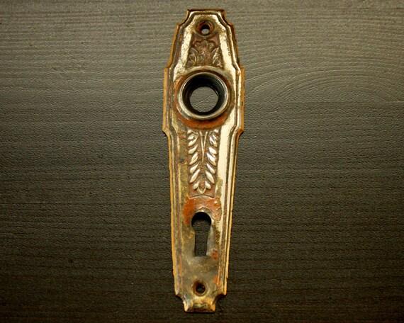 Antique Backplate for Doorknob -  Decorative Vintage Door Hardware - Architectural Salvage