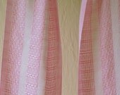 Pink and White Scarf - Hand Woven in Tencel