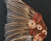 Steampunk Bird-wing Brooch