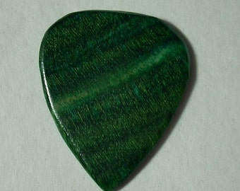 Green Dymondwood Handcrafted Guitar Pick Made To Order