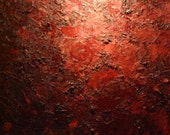 Mars 40 x 40 inch  original abstract expressionist textured red