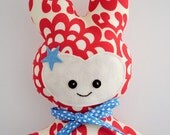 Red, White and Blue Fabric Super Hero with Cape