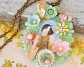 Bird treasures necklace