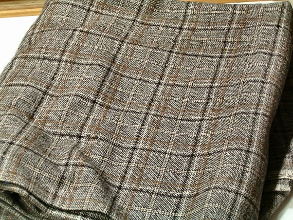 "3 Yards Wool Suiting 56"" Heavy Hounds tooth Fall Fabric"