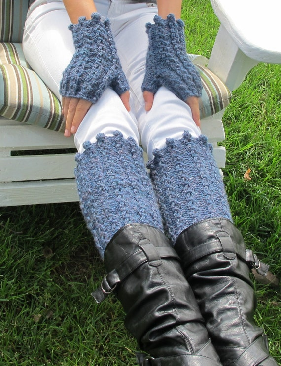 Knitting Pattern Leg Warmers Bulky Yarn : Boot Cuffs & Wrist Warmers, knit in the round in worsted weight or bulky ...