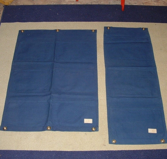 Vintage Kettle Creek Canvas Company Port Stanley Ontario two navy  organizers in like new condition