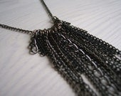 Chainmail necklace - in black - handmade