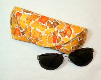 Eyeglass or Sunglass Case Large - Golden Pebbles
