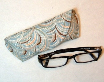 Eyeglass Case or Sunglass Case - Whispers Blue