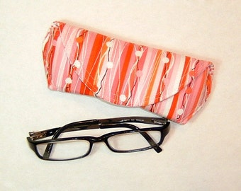 Eyeglass Case or Sunglass Case - Fabric - Beads on a String