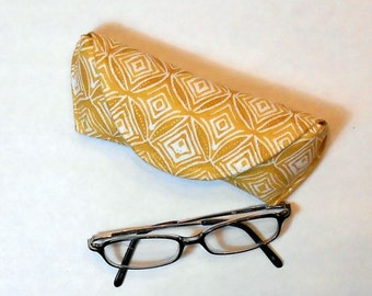 Eyeglass Case or Sunglass Case - Gold and Diamonds