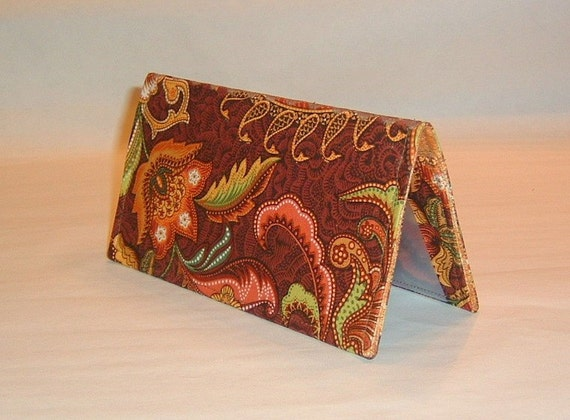 Checkbook Cover - Powerful Paisley
