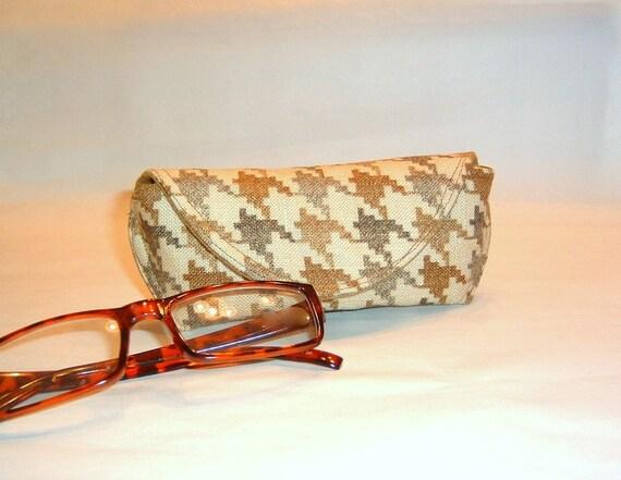 Eyeglass Case or Sunglass Case - Houndstooth
