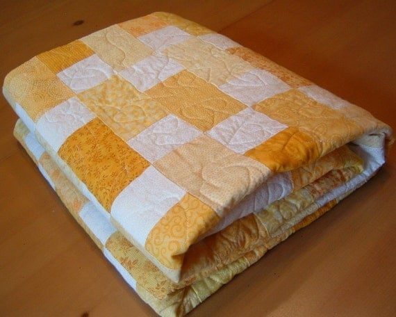 Baby, Toddler or Lap Quilt - Yellow Brick Road