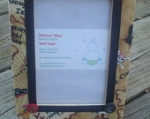 4 x 6 Fabric Decoupage Picture Frame - Little Matey Pirate