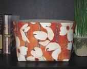 Large Fabric Organizer Bin in Laura Gunn's Dogwood Stripe
