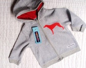 Puppy fleece hoodie, 6-12 months