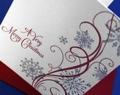 Very Merry Christmas - - - Set of 24 Letterpress Cards with Envelopes