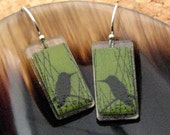 Humbird Green Earrings