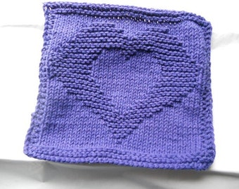 Purple Heart Dish cloth/wash cloth