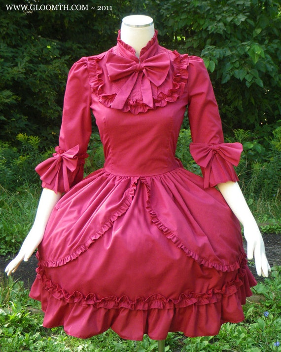Gloomth Sorrow Victorian Dress Your Size and Color Choice