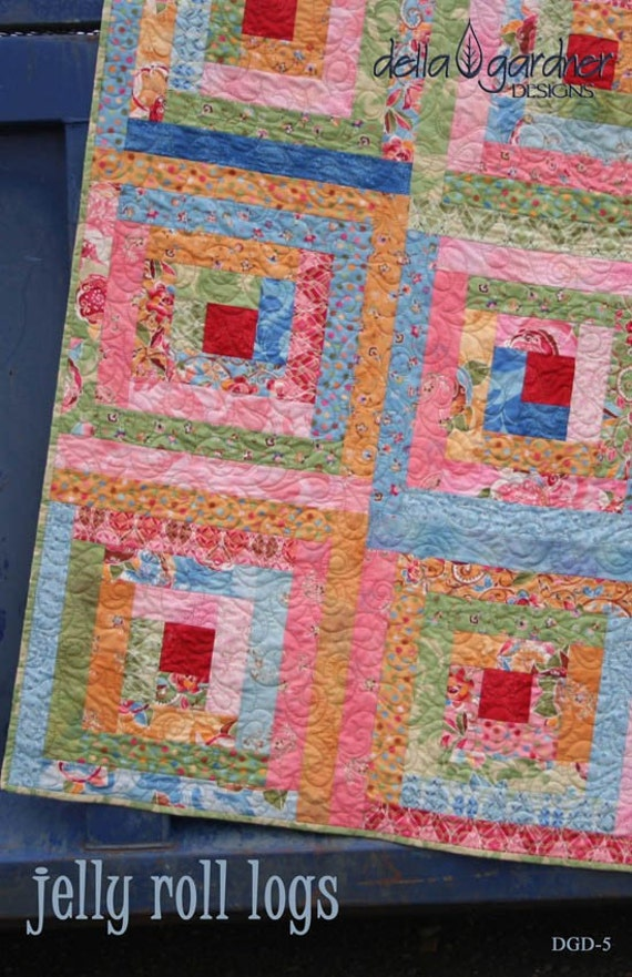 Jelly Roll Logs Quilt Pattern