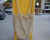 Tan Tweed Cotton Tote