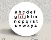 Hidden Alphabet Message - PINBACK BUTTON or MAGNET - 1.25 inch round