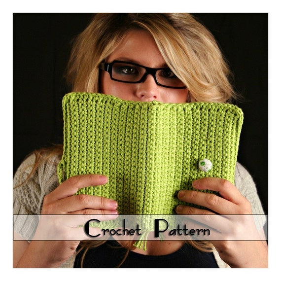 Crochet Book Cover Tutorial : Crochet pattern for book cover