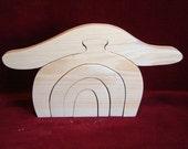 Little Stacker, Flirty Mushroom, Unfinished Pine Cutout
