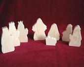 Nativity People Set, Unfinished Pine Cutouts