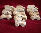 Mini-Vehicles, 12 Assorted Pine, Unfinished
