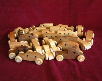 Hardwood Mini-Vehicles, Party Pack of 25 Assorted