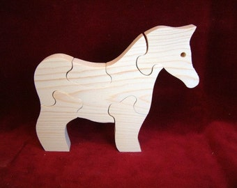 Pony Puzzle, Unfinished Pine