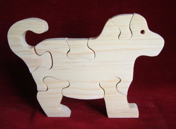 Puppy Puzzle, Unfinished Pine