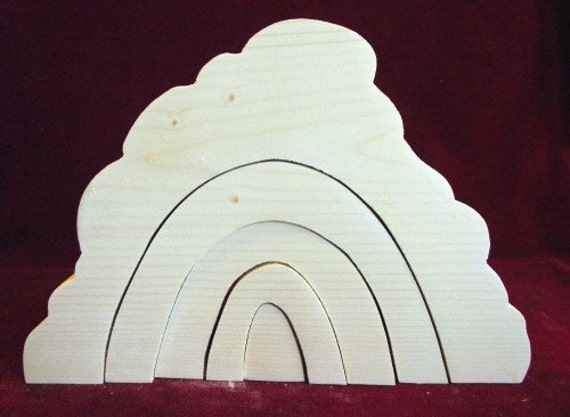 Big Stacker Stone Tunnel,  Unfinished Pine Stacker